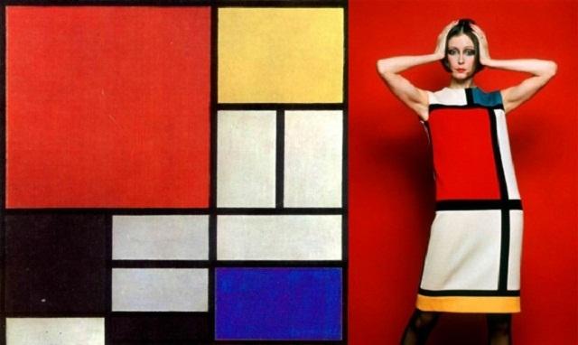 Top Moda e arte negli anni '60: Piet Mondrian e Yves Saint Laurent  QP09